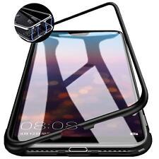 Metall Bumper Magnet Schutzhülle Case Cover Handy Schutz Hülle Tasche Glas 9H