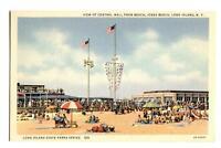 Postcard View Central Mall from Beach Jones Beach Long Island NY