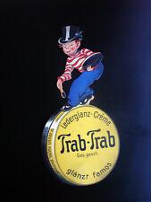 Trab-Trab - Pappfigur - Lederglanz-Creme - Dr. Julius Fuchs, Stuttgart -um 1920