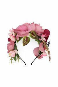 Morgan & Taylor Dori Headpiece in Hot Pink Combo