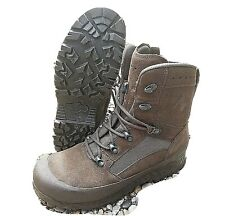 BRITISH ARMY - HAIX Boots Desert Combat High Liability Brown Genuine Surplus
