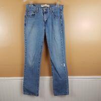 Levis 505 Straight Leg Jeans Sz 6 M Nouveau Low Rise Light Wash Destroy