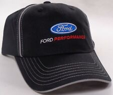 Hat Cap Licensed Ford Performance Racing Black Grey Piping CF