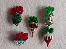 Dress It Up Bottoni COLLEZIONE DI NATALE ~ ~ ~ Ornamenti di Natale Palline Albero ~