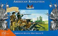 American Revolution Militia Men Series II 2 Accurate 1/32 54mm Plastic 3209