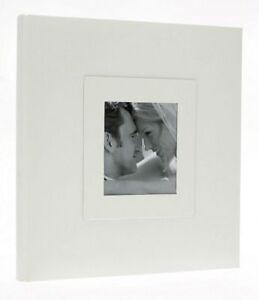 "White Elegant Slip In Photo Album 200 6"" x 4"" Photos Memo Wedding Home Love Gift"