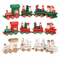 Christmas Wooden Little Train Ornaments Decoration Xmas Festival Gifts Toy Decor