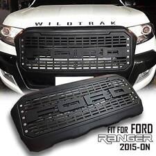 FRONT BLACK GRILL GRILLE 10 LEDs FOR FORD RANGER MK2 15-ON Facelift Wildtrak PX2