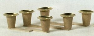 German Christmas Pyramid Parts  Set of 6 Candle Holders
