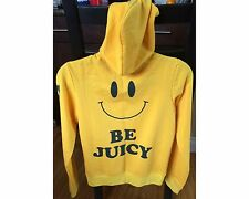 """Rare Juicy Couture """"Be Juicy"""" Small Size Large Yellow Smiley Face Tracksuit USA"""