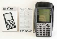 Sporty's E6B Electronic Flight Computer Calculator  w manual, case