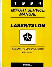 Oem Repair Shop Manual Bound For Plymouth Laser 1994