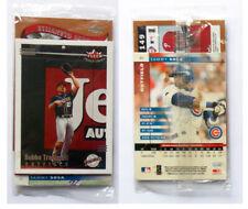 2002 Baseball 3 Cards sealed Set - Fleer Topps Donruss - TRAMMELL GLANVILLE SOSA