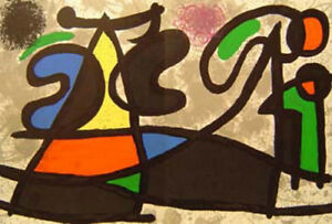 JOAN MIRO- COMPOSITION-DOUBLE-PAGE ORIGINAL LITHOGRAPH FOR DLM 186 -1970