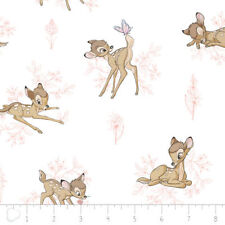 Fat Quarter Disney Bambi Toile Sewing Cotton Quilting Fabric Pink