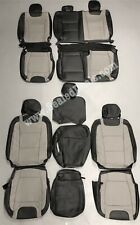 2015 20 Ford F150 Supercrew Xlt Leather Seat Covers Limited Black Amp Gray Upgrade Fits Ford F 150