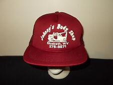 VTG-1980s  Johnny's Body Shop Towing Wrecker Elizabeth West Virginia hat sku8