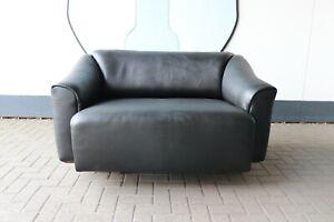 de Sede Ds 47-2 Sofa, Neckleder, schwarz