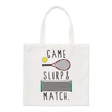Juego Slurp y combinar Small Tote Bag-Gracioso tenis Shopper Hombro