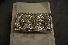 Balmain x H&M Beaded Leather Clutch Bag