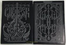 Rare Grotesk Black Mass Playing Cards~Gold Edition~LTD to 600~Free Shipping