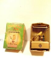 "Vintage battery operated toy ""Singing Bird in Cage"" with old box; made in Japan"
