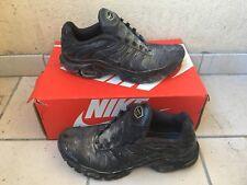 Tn Nike Air Max Plus All Black Taille 43 Size 9,5 Us Très Usée Défoncés