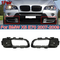For BMW X5 E70 2007-2010 Car Fog Light Trims Front Bumper Lower Grille Fog Cover