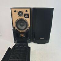 Pair of Technics SB-CH530A Black 3 Way Speakers Hi-Fi - Sound Great