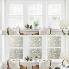 Frosted Glass Film Static Cling Stained Privacy Flower Sticker Window Decor B