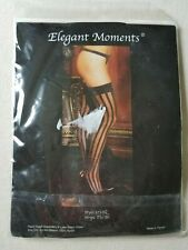 Elegant Moments Stripe Thigh High Queen 1x-3x Pink Style 1732Q Sexy New