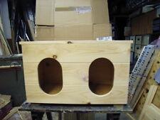 UNIVERSAL HAND MADE CHICKEN  2 BIRD NEST BOX FOR INSIDE OUTSIDE COOP HUT HOUSE