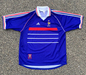 Vintage Adidas French Football Federation Soccer Jersey Size XL Official Garment