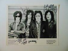 """LA Guns"" Band Signed Riley Lewis Blades Griffin 10X8 B&W Photo Todd Mueller COA"