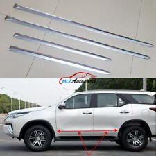 For Toyota Fortuner 2016 2017 Car Side Door Body Trim Molding Cover ABS Chrome