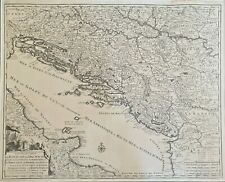 1726 CORONELLI MAP ROYAUME DE DALMACIE ADRIATIC CROATIA ITALY DALMATIA HUNGARY