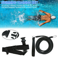 Swim Bungee Training Belt Tether Stationary Cords Pool Training Aid Resistance