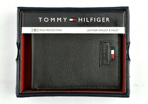 *Tommy Hilfiger Classic Men's Leather Credit Card Bifold Wallet Black