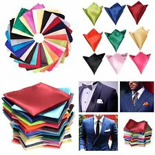 Mens Handkerchiefs 26 Solid Color Lot Set Handkerchief Hanky Silk Pocket Square