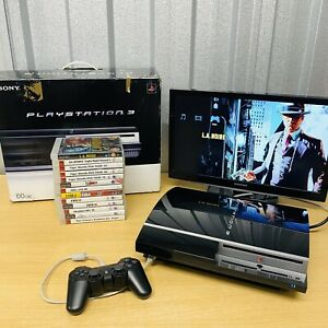 Boxed Sony PlayStation 3 Fat 40GB Console Bundle 13 Games PAL *Tested* FREE POST