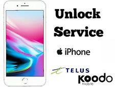TELUS KOODO FACTORY UNLOCK SERVICE IPHONE X 8 8+ 7 7+ 6 6+ 5s 5c 5 4s 4