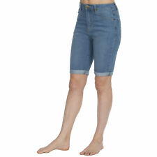 Causeway Bay Ladies Knee Length Stretch Denim Shorts Stonewash 20