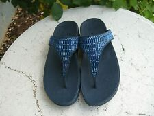 FitFlop  NEW! Women's Flare Thong Sandal dark blue bling!