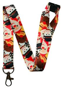 Festive Friends Christmas Neck Lanyard With Safety Breakaway