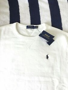 BNWT Mens Ralph Lauren White Crew Neck Sweatshirt In XL
