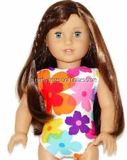 Tropical Flower Print 1PC Swim Bathing Suit 18 in Doll Clothes Fit American Girl