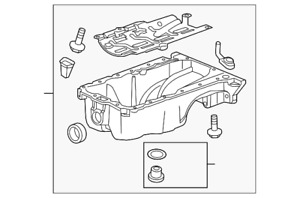 Genuine GM Oil Pan 25200829