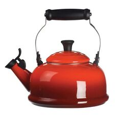 Le Creuset 1.7 L (1.8 Quart) Whistling Tea Kettle (Cherry Red)