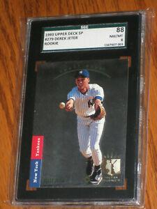 Mint Derek Jeter ROOKIE 1993 Upper Deck #279 FOIL SP Rookie Card - SGC 88