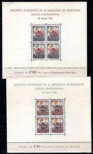 Spain / Surcharge Barcelona - 1941 Christmas - Mi. Bl. 3-4 MNH (some gum toning)